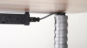 Profil i listwa do prowadzenie kabli pod biurkiem